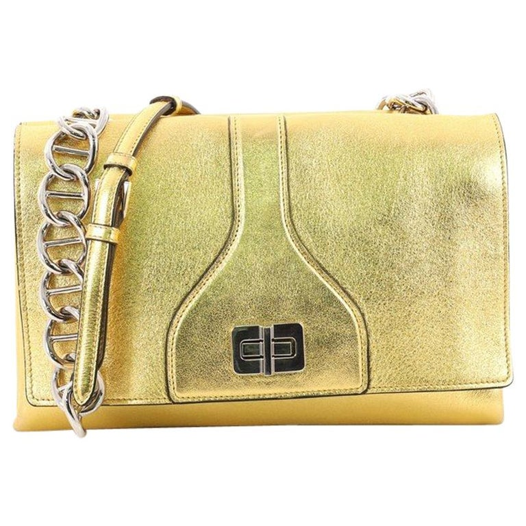5f07351586fb Prada Turnlock Flap Chain Bag Leather Small at 1stdibs