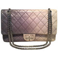 CHANEL Double Hybrid Degrade Ombre Grey Leather 2.55 Reissue 227 Classic Flap
