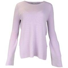 Stella McCartney NWT Lavender Wool High Low Sweater w Bell Sleeves Sz 42 rt $750
