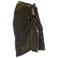 Vivienne Westwood Anglomania Draped Velvet Skirt