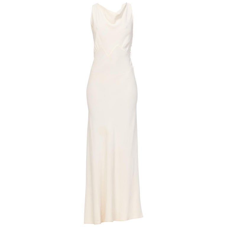 78946d3b28aa 1930s Bias Cut Low Back Crepe Gown For Sale at 1stdibs