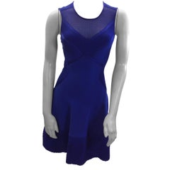 Roberto Cavalli Royal Blue Sleeveless Dress