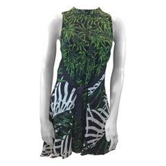 Proenza Schouler Green Print Silk Dress