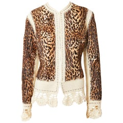 John Galliano for Dior Leopard Pattern Jacket