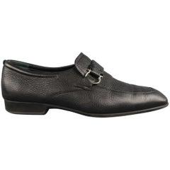 SALVATORE FERRAGAMO Size 10 Black Solid Leather Loafers