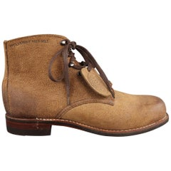 WOLVERINE Size 8 Natural Solid Suede Boots