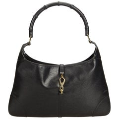 Gucci Black Bamboo Leather Jackie