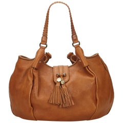 Gucci Orange Leather Marrakech Hobo Bag