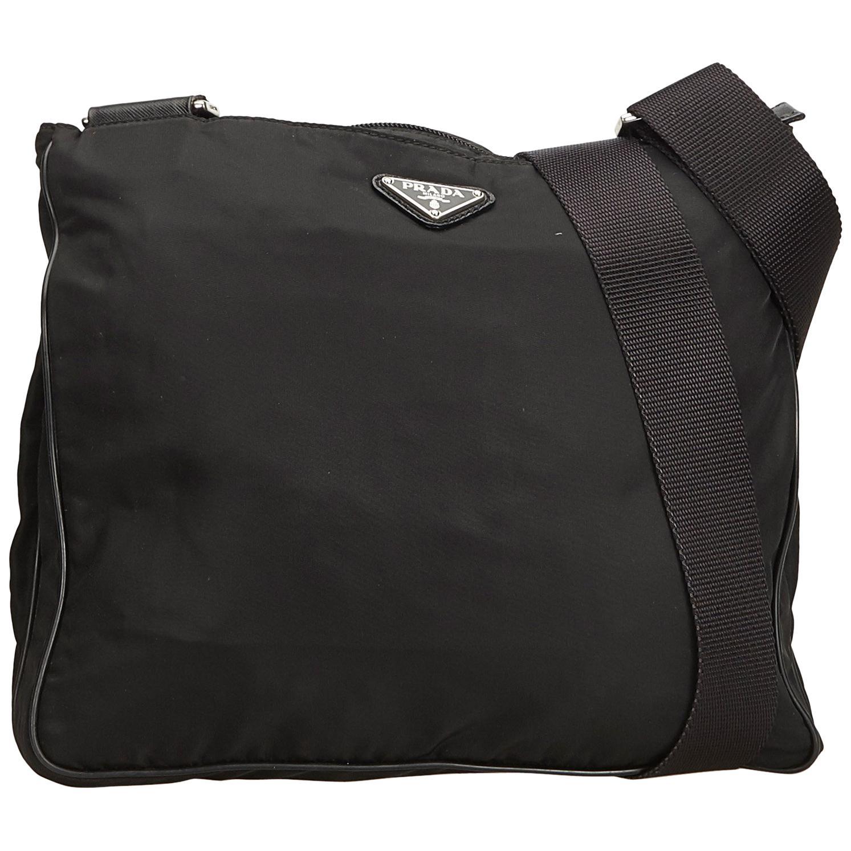 b2809908e8 ... usa prada black tessuto nylon crossbody bag for sale 4fd21 1e645