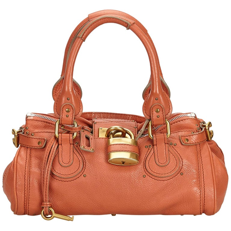 5832f792fd Chloe Pink Leather Paddington Handbag at 1stdibs