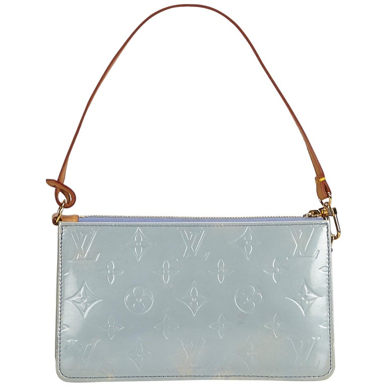 5cc7dd5d7488 Louis Vuitton Blue Vernis Lexington Pochette at 1stdibs