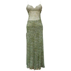 Valentino beautiful dress and skirt set made of green chiffon and lace