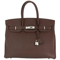 2008 Hermes Chocolate Togo Leather Birkin 35cm