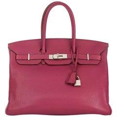 2011 Hermes Tosca Clemence Leather Birkin 35cm