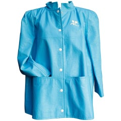 Courrèges light blue vinyle iconic jacket