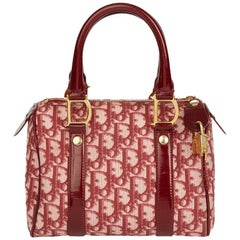 2001 Christian Dior Red Monogram Canvas Boston 20cm