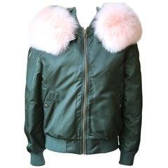 Mr & Mrs Italy Fox Fur-Trimmed Bomber Jacket