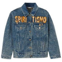 Gucci Oversized Embellished Appliquéd Denim Jacket