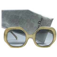 New Vintage Christian Dior 2031 61 Jasped Lime Green Optyl Sunglasses Germany