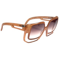 New Vintage Christian Dior 2029 30 Medium Amber Jasped Optyl Sunglasses