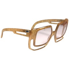 New Vintage Christian Dior 2029 10 Light Amber Jasped Optyl Sunglasses