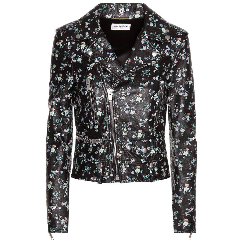Saint Laurent Classic L01 Floral-Printed Leather Jacket