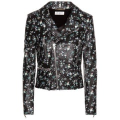 Saint Laurent Classic L01 Floral-Printed Leather Jacket