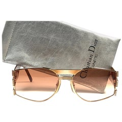 New Vintage Christian Dior 2562 Gold & Tortoise 1980's Sunglasses