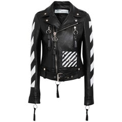 Off-White c/o Virgil Abloh Paneled Leather Biker Jacket