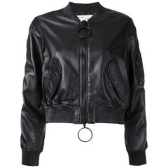 Off-White c/o Virgil Abloh Woman Leather Bomber Jacket