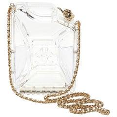 2015 Chanel Clear Plexiglass Dubai by Night Gas Can Minaudiere