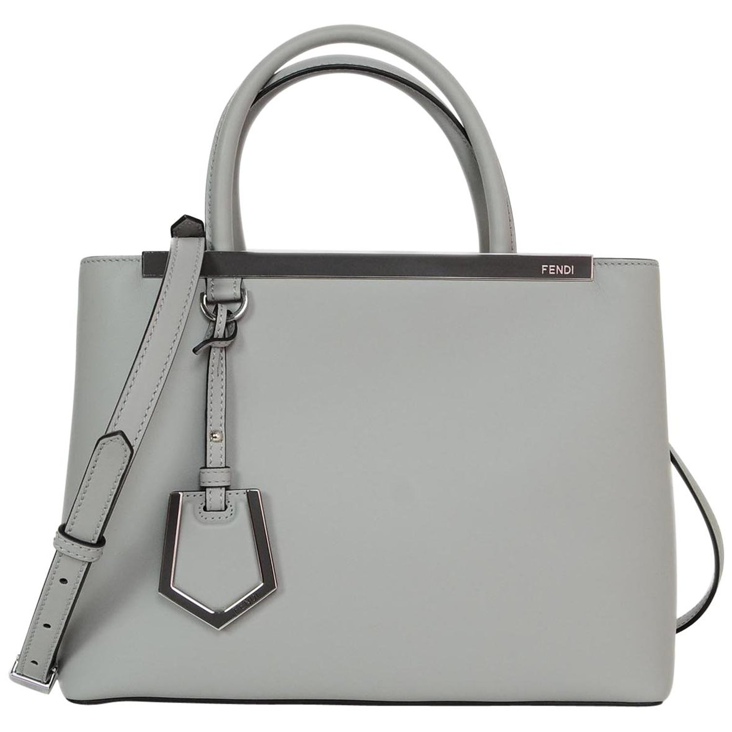 691a0eaa8aca Fendi 2018 Ice Blue Grey and Camellia Leather Petite 2 Jours Satchel  Crossbody Bag For Sale at 1stdibs
