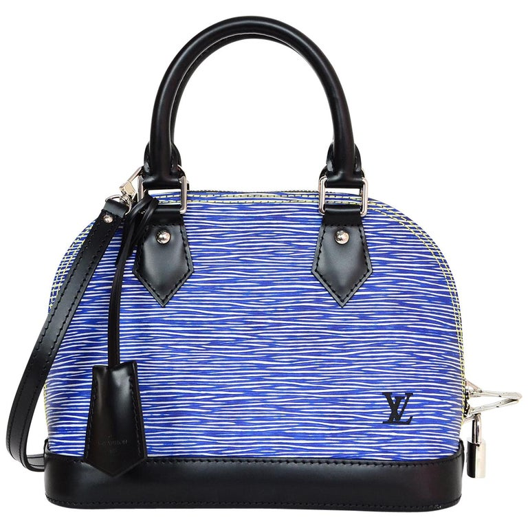 Louis Vuitton Lv 2018 Blue Denim Epi Leather Mini Alma Bb Crossbody