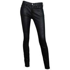 Current/Elliot Black Leather The Ankle Skinny Pants Sz 26
