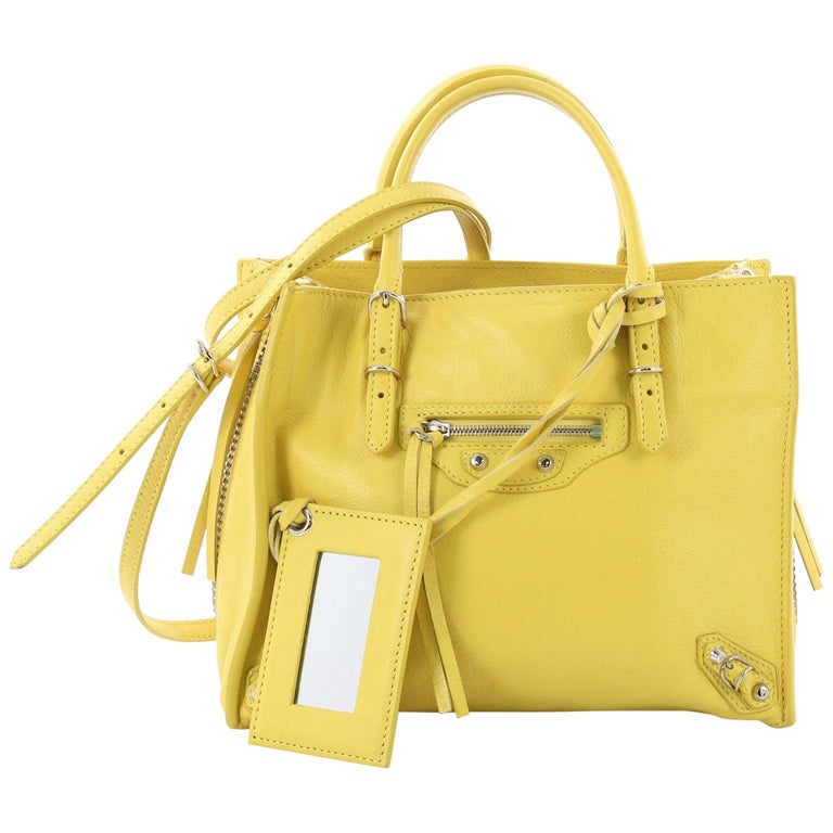 89ae066b3f5a8 Balenciaga Papier A4 Zip Around Classic Studs Handbag Leather Mini For Sale