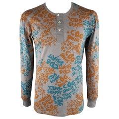 COMME des GARCONS Size XL Grey Print Cotton Long sleeve t-shirt