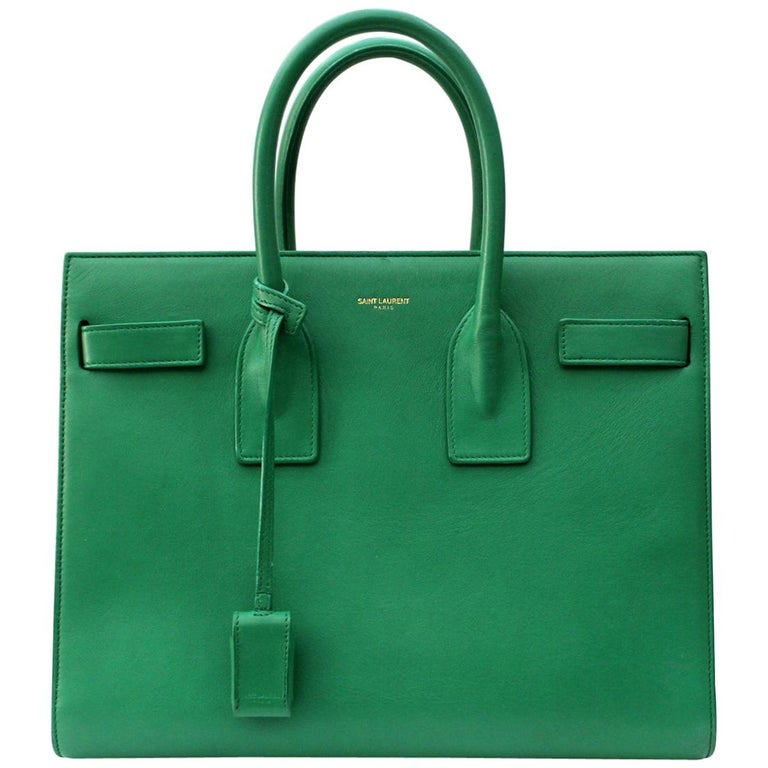 d21d18d3cc1f Yves Saint Laurent Green-Mint Leather Sac De Jour Bag For Sale at ...