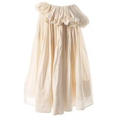 Yohji Yamamoto ivory cotton pleated peplum skirt, SS 2000
