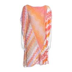 Missoni Mare Multicolor Patterned Knit Kaftan Tunic L