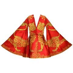Amazing Rare Alexander McQueen Final Collection Cape Dress 2010  Mint Size 38