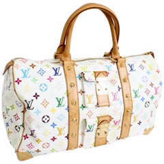 Louis Vuitton Multicolore Monogram Keepall 45cm Duffle Bag Travel Tote Spring 03
