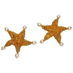 Massive Chanel Runway Starfish Ear Clips