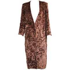 Matsuda Vintage Womens / Unisex Long Brown Chenille Tapestry Jacket, 1980s