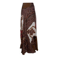 Etro Multicolor Paisley Printed Silk Maxi Skirt S