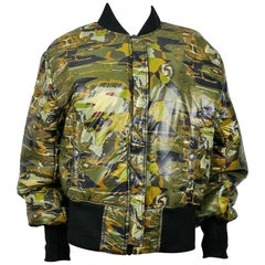 Jean Paul Gaultier Vintage Camouflage Faces Reversible Bomber Jacket