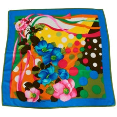 Carolina Herrera Colorful Silk Scarf