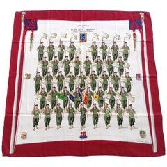 Hermès Silk Scarf Vintage Demi Brigade de Fusiliers Marins Grygkar 1958 Rate 1B