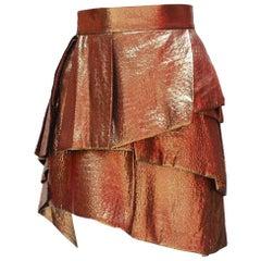 Alexandre Vauthier Gold Layered Skirt