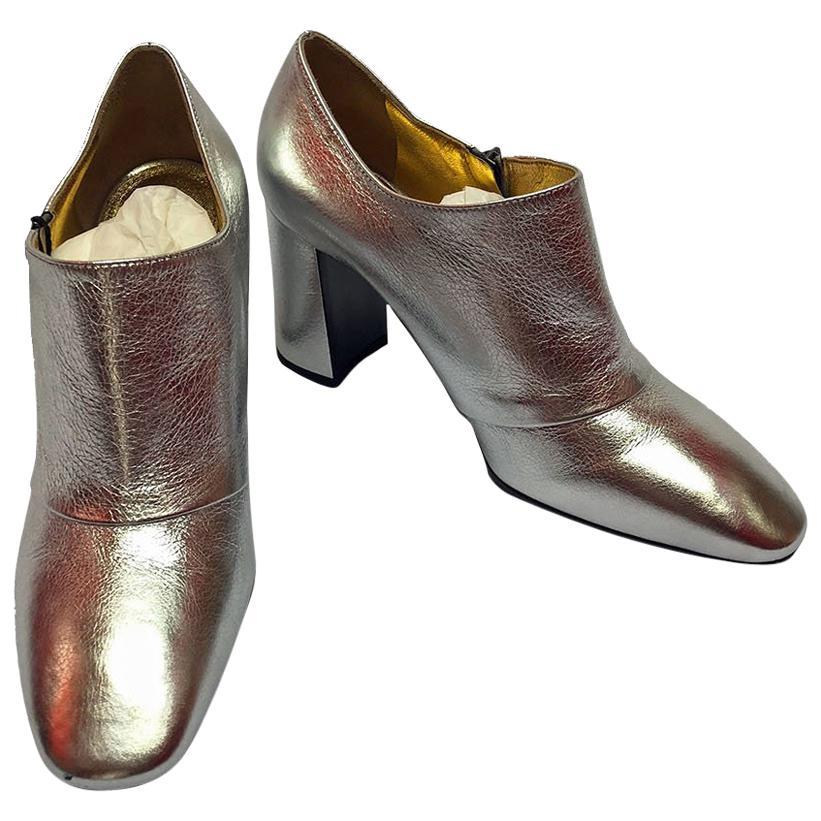 Bottega Veneta Silver Ankle Boot