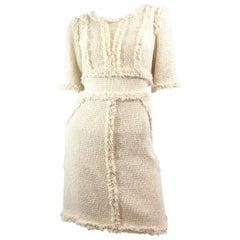 Chanel Fringe Tweed Dress